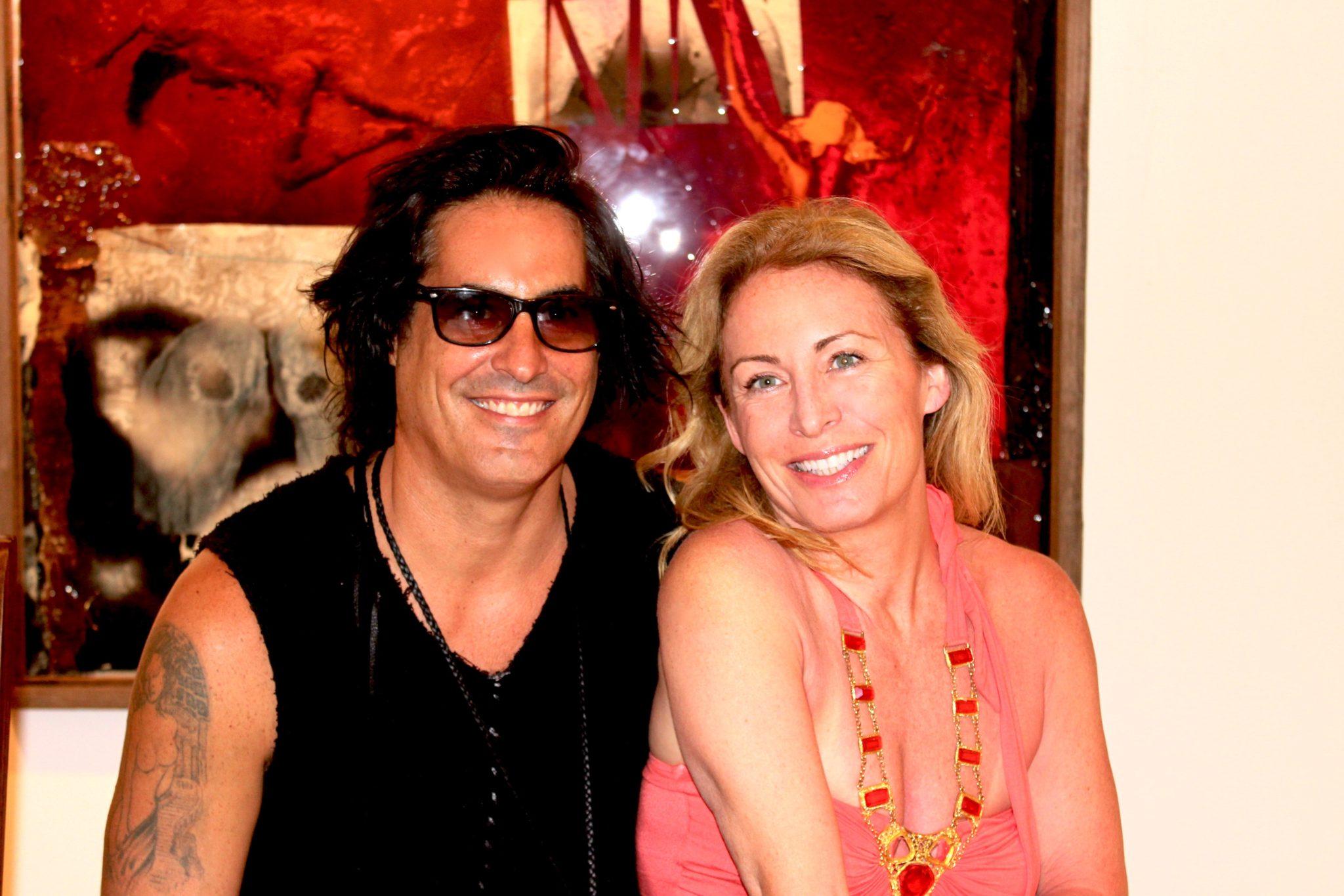 Artist Raphael Mazzucco & Diana Pinck at Arthamptons July 2013