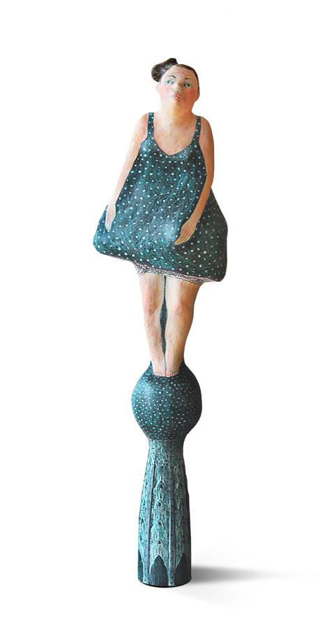 BALLERINA von Nadja Lerch, 30cm, Holzmasse