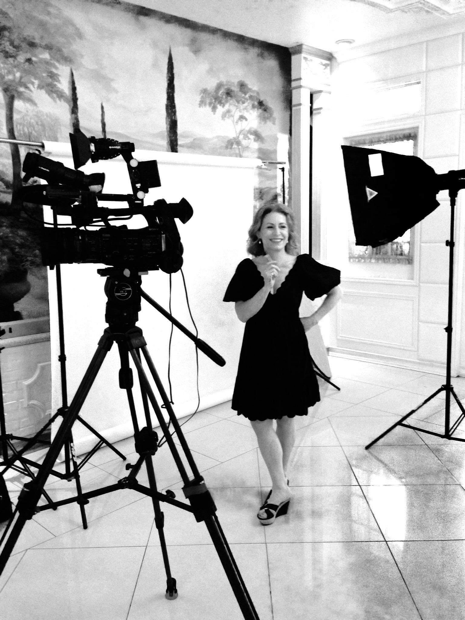 Diana Pinck backstage, Aufzeichnung der Chase Backer Show, Mai 2014