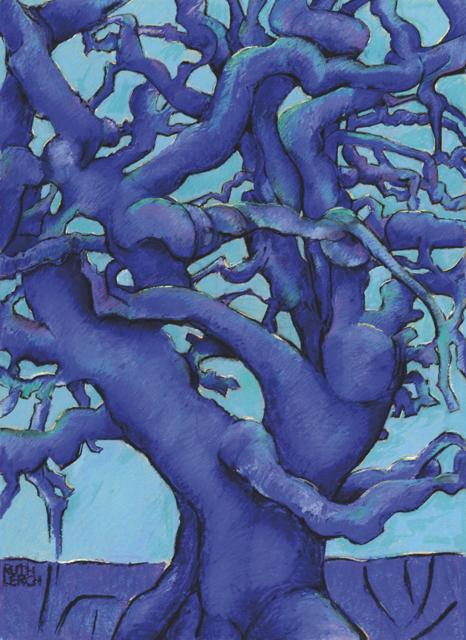 BAUM, pastel Gemälde von Ruth Maria Lerch, 100x120cm