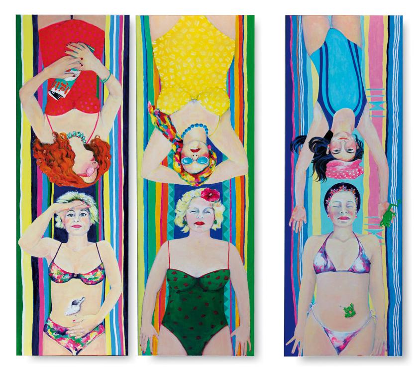Ruth Maria Lerch, Acryl auf Leinwand 120x120cm